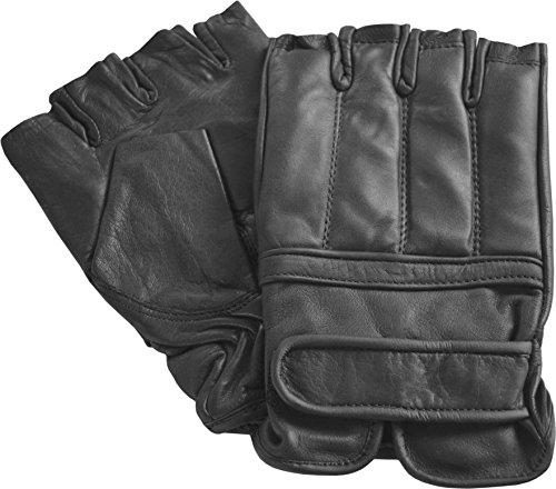 Quarzsand Handschuhe aus Leder ohne Finger / Security Handschuhe M-XXL