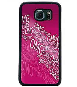 PrintDhaba Typography D-5587 Back Case Cover for SAMSUNG GALAXY S6 (Multi-Coloured)