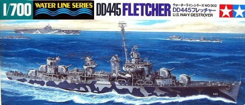 Tamiya Military Model 1/700 War Ship DD445 FLETCHER US Destroyer 31902 - 1