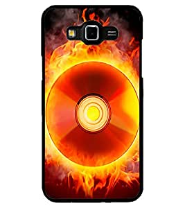 ColourCraft Flaming CD Design Back Case Cover for SAMSUNG GALAXY GRAND 3