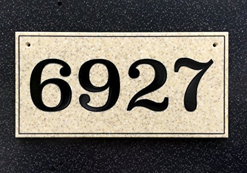 Customizable Engraved House Number Sign (Craftsman Address Numbers compare prices)