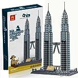 The Petronas Towers of Kuala Lumpur, Malaysia Building Bricks Set