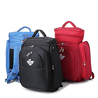 CABIN 1 - Fits ALL Airlines, Maximum Size, No Confusion. Adaptable Carry On Backpack Travel Luggage Bag - World's First Easyjet, Ryanair, British Airways & All Airlines Convertible Expanding Rucksack Bag - Expands to 50x40x20, 55x40x20 & 56x45x25cm (BPCAB