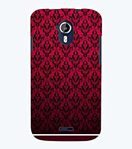PRINTSWAG RED PATTERN Designer Back Cover Case for MICROMAX A117 CANVAS MAGNUS