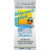 Wintersportkarte Bodenmais, Zellertal - Arbergebiet: Mit Ski- und Winterwanderwegen, Loipen und Pisten, wetterfest, reissfest, abwischbar, GPS-genau. 1:25000