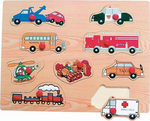 Picture of Fun Transportation Peg Wooden Puzzle (B002P8ZHKS) (Pegged Puzzles)