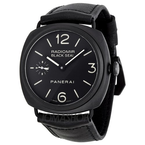 Panerai Radiomir Black Seal Black Dial Black Leather Mens Watch PAM00292