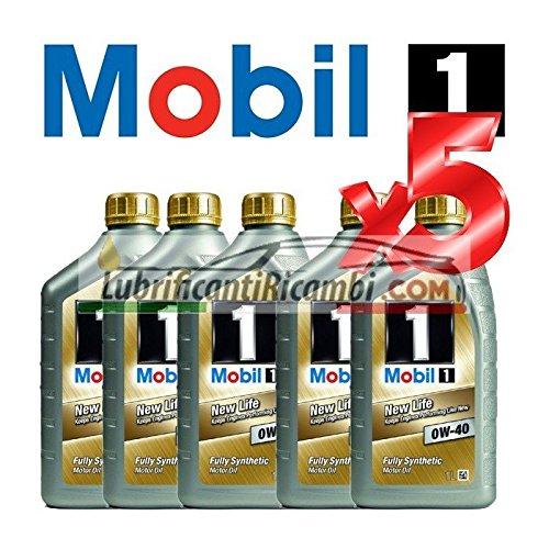 Olio-Motore-Auto-sintetico-Mobil-1-NEW-LIFE-0W40-Offerta-5-Litri-in-latte-da-da-litro
