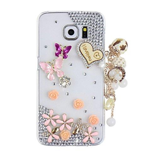 evtechtm-papillon-rose-violet-diamante-floral-blossom-five-leaves-love-heart-flower-chain-forme-de-m