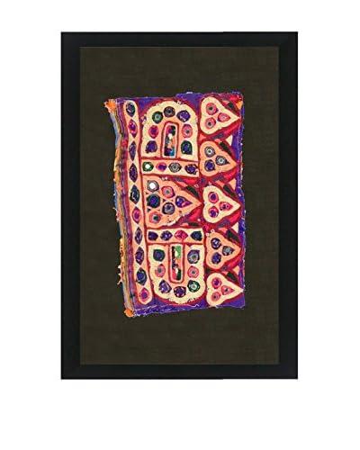 Uptown Down Vintage Framed Tribal Textile, Multi