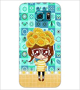 PrintDhaba Big Specs Doll D-3163 Back Case Cover for SAMSUNG GALAXY S6 EDGE (Multi-Coloured)