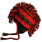 Agan Traders 100% Wool Fleece Mohalk Hat Hand Knitted in Nepal One Size