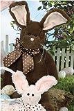 "Fudge 15"" Chocolate-Scented Easter Plush Stuffed Animal Bunny by Bearington"