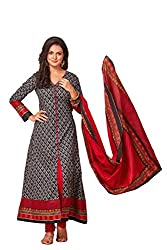 Taos Brand cotton dress materials for women womens dress materials cotton salwar suit New Arrival latest 2016 womens party wear Unstitched dress materials for women (1347 summer__black and sky blue_freesize