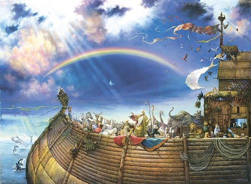 Noah's Ark a 1500-Piece Jigsaw Puzzle by Sunsout Inc.