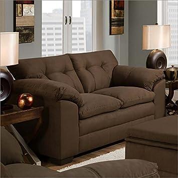 Simmons Upholstery 6765 Velocity Loveseat Espresso