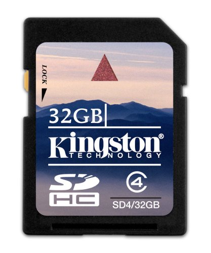 Kingston 32 GB Class 4 SDHC Flash Memory Card SD4/32GB