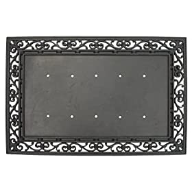 Evergreen 2RM000A Rubber Door Mat Frame, Monogram Base Door Mat, 24-Inches x 36-Inches