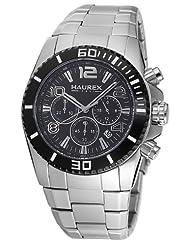 Haurex Italy Men's 0D351UNN Aggressive Chrono Black Dial Watch