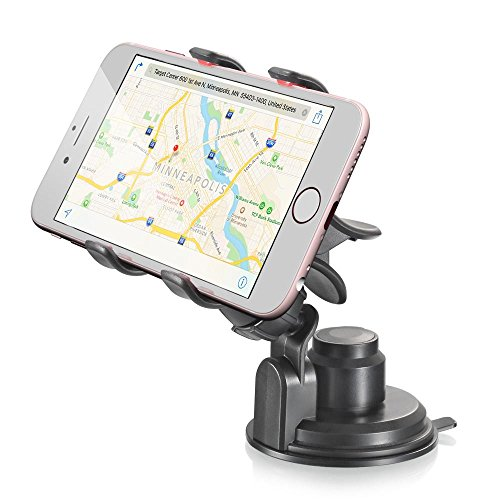 Vena Clip Grip Universal Sunction Cup Car Mount Holder for Google Pixel / XL iPhone 7/7 plus/6s/6s plus Galaxy S7/S7 Edge LG G5, Moto G4/Play and More