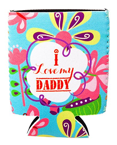 I Love My Daddy Rubber Baby Bottle Sleeve front-1010799