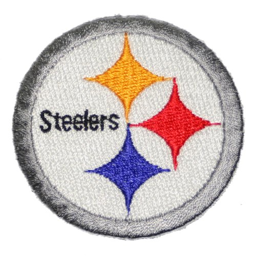 "Pittsburgh Steelers Iron on Patch 100% Embroidered NFL Applique 2 1/4"" at Amazon.com"