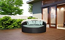Hot Sale Wink Wicker Outdoor Daybed with Canopy and Sunbrella Canvas Spa (5413-0000) Cushion