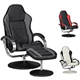 FineBuy Fernsehsessel SPEEDY TV Design Relax-Sessel verstellbar Racing Modern Bezug