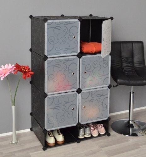 aduh pusink regal schrank flur diele badregal kleiderschrank wandregal in schwarz wei transparent. Black Bedroom Furniture Sets. Home Design Ideas