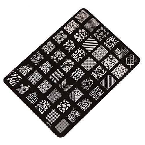 Malloom® Nail timbra il piatto di immagine Francobolli piatto Manicure Nail