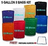 E-ONSale Herbal Ice Bubble Hash Bag Essense Extractor Kit, 5-Gallon, 8 Bag