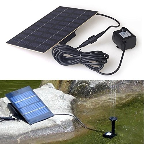 Magicfly 9V 1.8W Solar Panel Brushless Water Cycle Pump for Pond Fountain Rockery Fountain