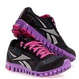 Reebok Realflex Optimal Youth Girls Black Mesh Running Shoes 6.5 UK
