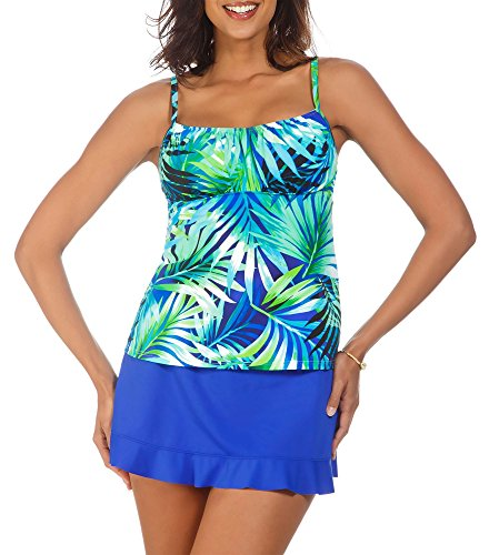 caribbean-joe-womens-rainforest-tankini-top-10-black-multi
