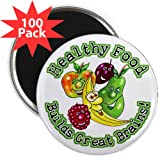 Healthy Food Builds Great Brains 2.25 Magnet 10 2.25 Magnet 100 pack by CafePress Reviews