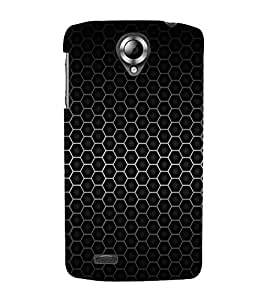Vizagbeats Carbon Texture Back Case Cover for Lenovo K 820