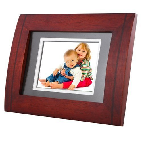 Tao 89358 5.6-Inch 128MB 5-Inch x 7-Inch Modern Curved Double-Matted Digital Picture Frame (Mahogany)
