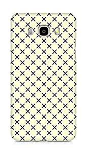 Amez designer printed 3d premium high quality back case cover for Samsung Galaxy J7 - 6 (New 2016 Edition) (Black n Yellow Pattern2)