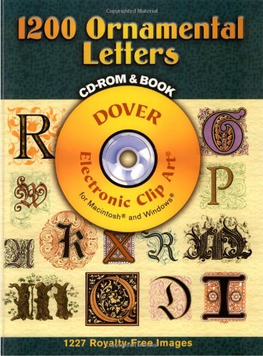 1200 Ornamental Letters (Dover Electronic Clip Art)