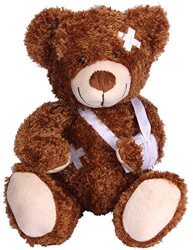 Kranker Patienten-Bär mit Gipsverband Teddy Teddybär Kuscheltier Stofftier, ca. 20 cm