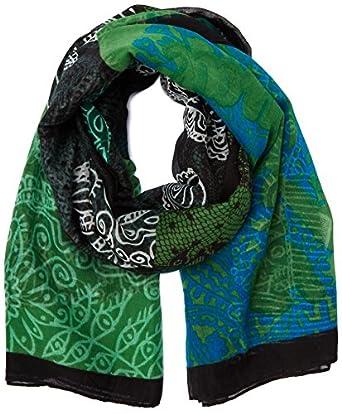 Desigual - alguero - foulard - imprimé - femme - vert (musgo) - taille unique
