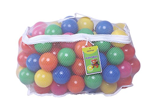 Click-N-Play-Pack-of-100-Phthalate-Free-BPA-Free-Crush-Proof-Plastic-Ball-Pit-Balls-6-Bright-Colors-in-Reusable-and-Durable-Storage-Mesh-Bag-with-Zipper