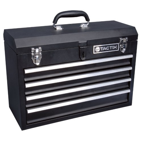 KR Tools TACTIX 321103 20-1/2-Inch Four Drawer Steel Portable