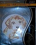 new large adult embroidery kit cross stitch kitten puppy dog