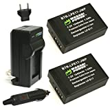 Wasabi Power Battery (2-Pack) and Charger for Canon LP-E17 and Canon EOS M3, EOS Rebel T6i, EOS Rebel T6s, EOS 750D, EOS 760D, EOS 8000D, Kiss X8i