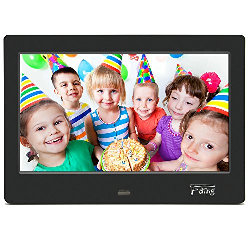 Fding 7-Inch Digital Photo Frame 16:9 LED Display-1024x600 Hi Resolution with 8GB SD Card (Photo Digital Album compare prices)