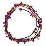 40cm Artificial DIY Flower Rattan Garland Home Garden Party Wedding Decorations (Purple)