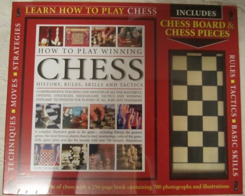Learn How To Play Chess Kit, Including 256 page book with 700 photographs and illustrations, chess board, pieces and box.