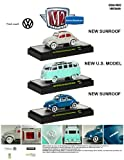 Auto Thentics Volkswagen 3 Cars Set Release 2 WITH CASES 1/64 by M2 Machines 32500VW02