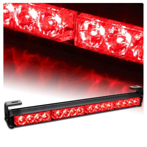 "18"" Emergency Warning Traffic Advisor Vehicle Strobe Light Bar - Red"